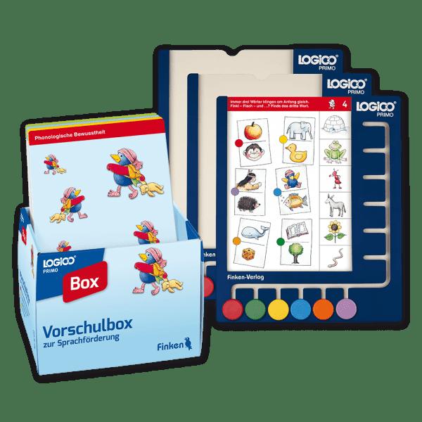 Vorschulbox zur Sprachförderung mit 3 Rahmen